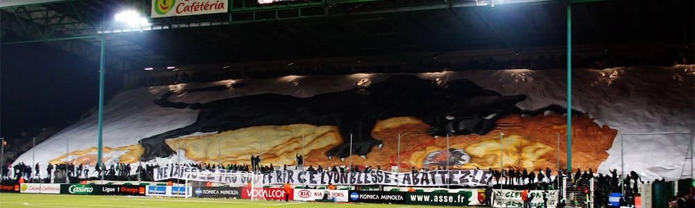 Tifo des Green Angels, lors d'un derby.